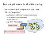 more applications for grid computing