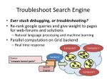 troubleshoot search engine
