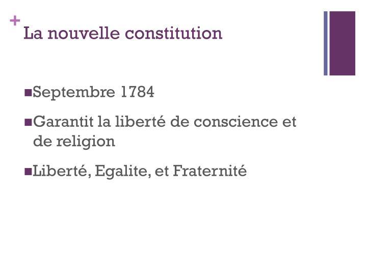 La nouvelle constitution