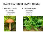 classification of living things16