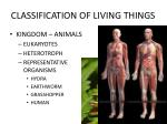classification of living things17