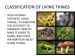 classification of living things2