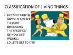 classification of living things20