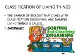 classification of living things3