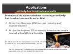 applications antibody functionalized nanoneedle