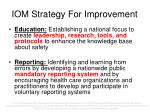 iom strategy for improvement
