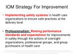 iom strategy for improvement1