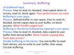 summary buffering