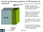 can the fundamental properties of srf materials be enhanced ag appl phys lett 88 012511 2006