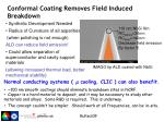 conformal coating removes field induced breakdown