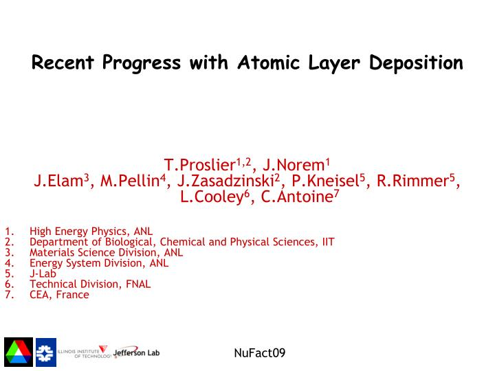 recent progress with atomic layer deposition n.