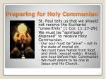 preparing for holy communion