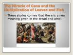 the miracle of cana and the multiplication of loaves and fish