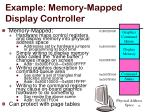 example memory mapped display controller