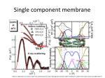 single component membrane