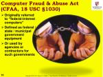 computer fraud abuse act cfaa 18 usc 1030