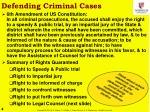 defending criminal cases