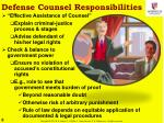 defense counsel responsibilities