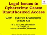 legal issues in cybercrime cases unauthorized access