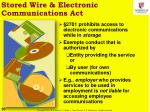 stored wire electronic communications act