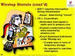wiretap statute cont d