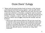 ossie davis eulogy