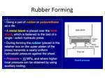 rubber forming