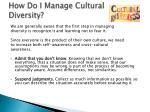 how do i manage cultural diversity