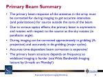 primary beam summary