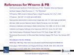 references for w term pb