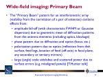 wide field imaging primary beam