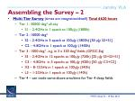 assembling the survey 2