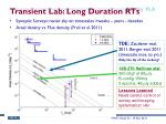 transient lab long duration rts