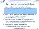 schreiben von generischen methoden1
