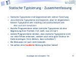statische typisierung zusammenfassung