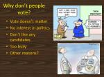why don t people vote