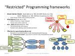 restricted programming frameworks