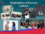 highlights of korean culture
