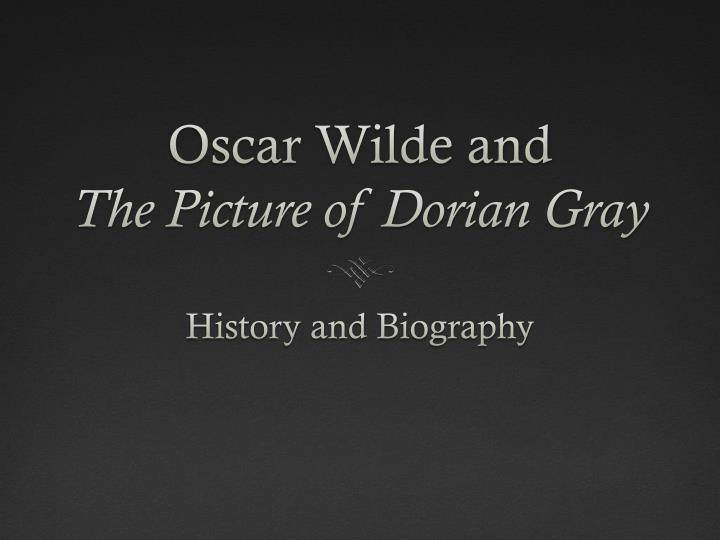 oscar wilde and the picture of dorian gray n.