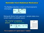 reminder from statistical mechanics1