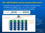 wl lsms method and the gordon bell award