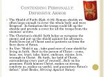 contending personally defensive armor3