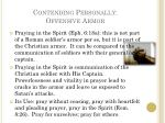 contending personally offensive armor1