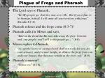 plague of frogs and pharaoh
