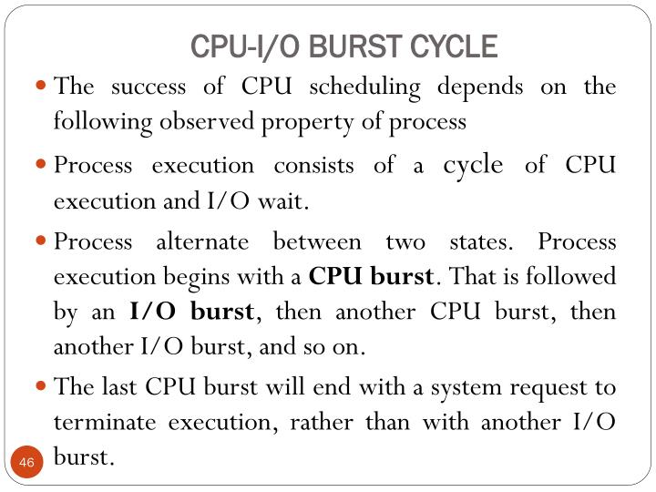 CPU-I/O BURST CYCLE