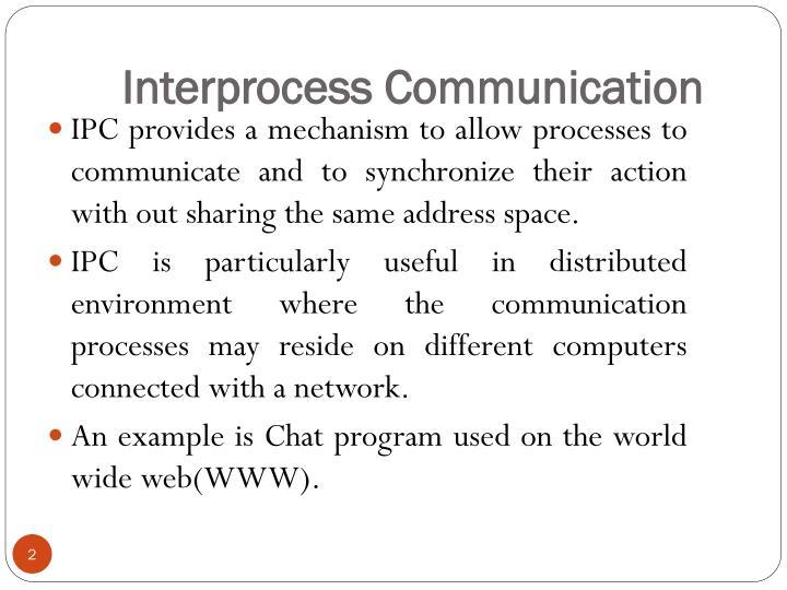 Interprocess communication1