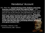 herodotus account
