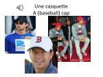 une casquette a baseball cap
