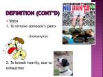 definition cont d
