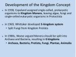 development of the kingdom concept1